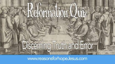 reformation quiz