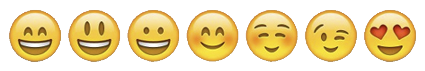 emoji smiles large