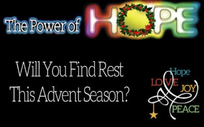 Will You Find Rest This Advent Season?