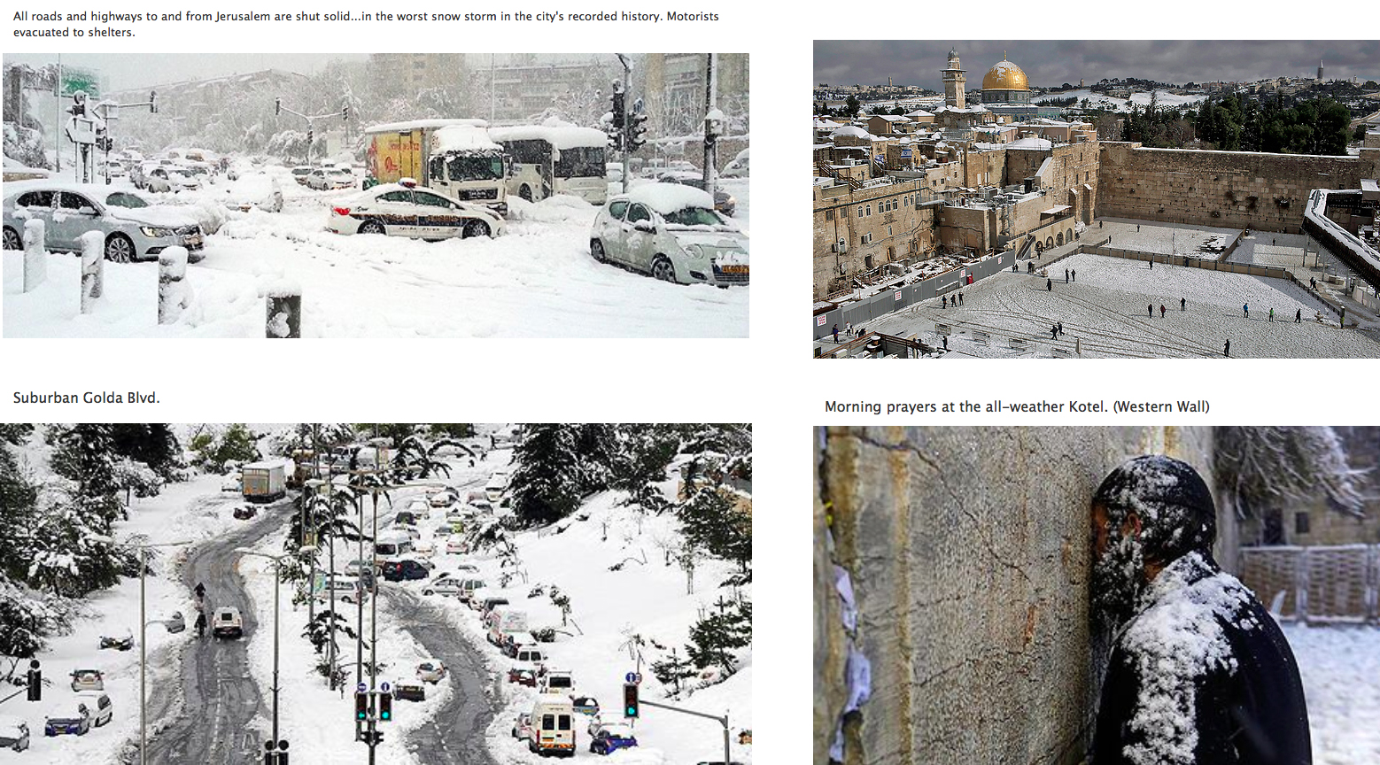 Israel in winter