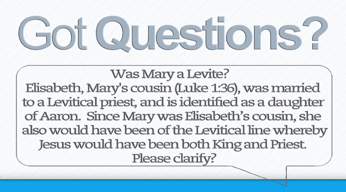 Was Mary a Levite-2