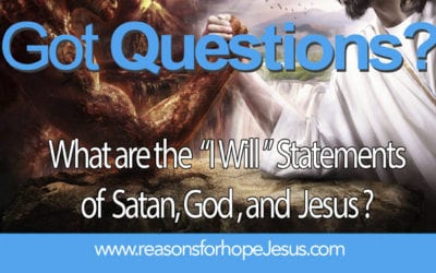 """What are the  """"I Will """" Statements of  Satan, God, and  Jesus?"""