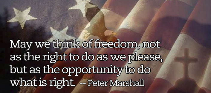 peter marshall quote freedom
