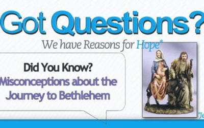 Misconceptions About Christmas: the Journey to Bethlehem