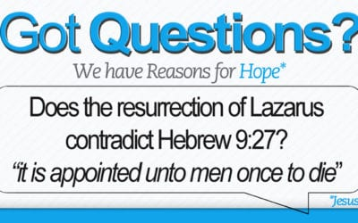 Does the resurrection of Lazarus contradict Hebrews 9:27?