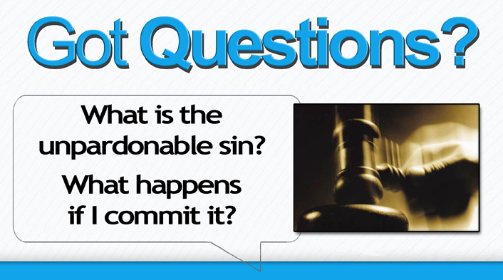 What is the unpardonable sin