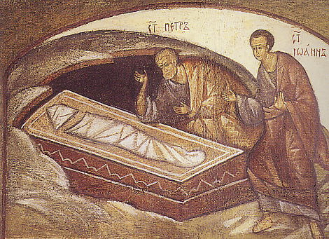 Peter John in tomb