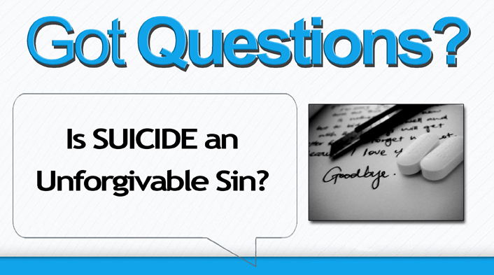 is suicide unforgivable sin