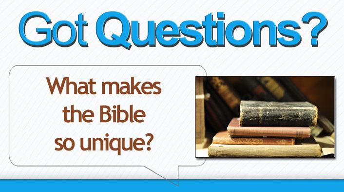 Bible is unique