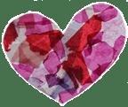 paper mache heart lrg