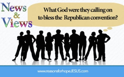 What God were they calling on to bless the Republican convention?