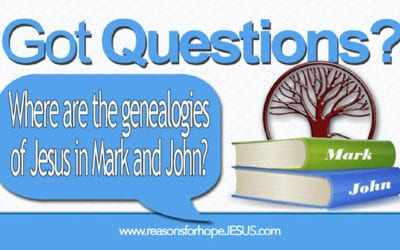 Where are the genealogies of Jesus in Mark and John?