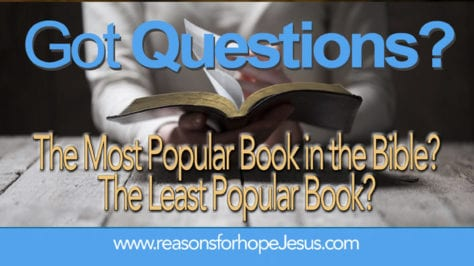 The Most Popular Book In The Bible The Least Popular Book