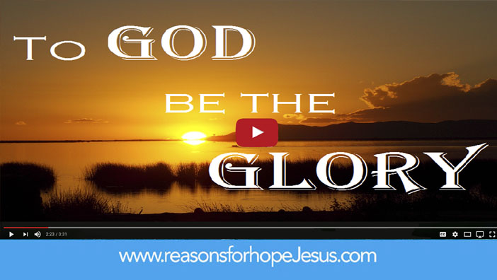 To God Be The Glory! Sung in a Contemporary Worship Style