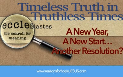 A New Year, A New Start. . .Another Resolution?