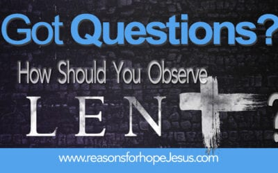 How Should You Observe Lent?