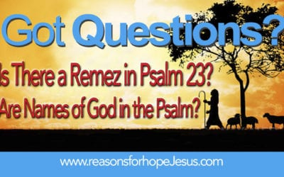 Is There a Remez in Psalm 23?  Are Names of God in the Psalm?