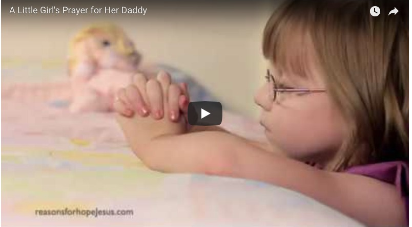 A Little Girl's Prayer for Her Daddy