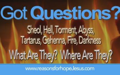 Sheol, Hell, Torment, Abyss, Tartarus, Gehenna, Fire, Darkness? What & Where Are They?