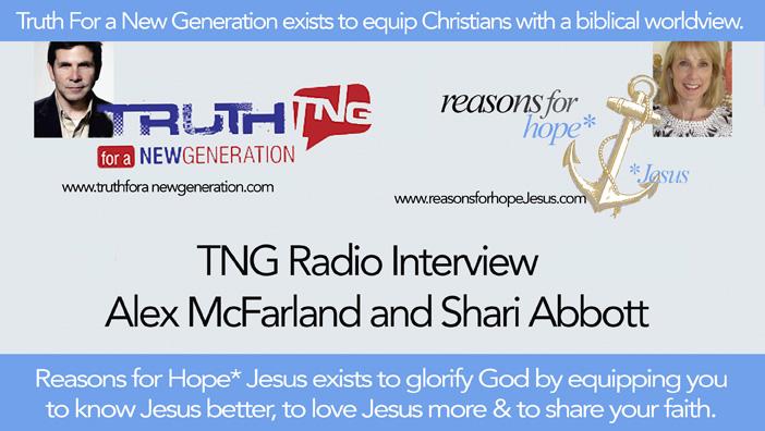 TNG Radio: Alex McFarland Interview with Shari Abbott