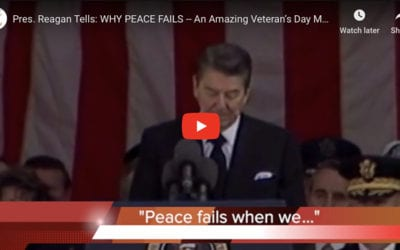 Pres. Reagan Tells: WHY PEACE FAILS