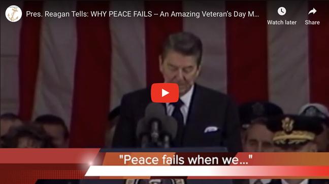 Pres. Reagan Tells: WHY PEACE FAILS