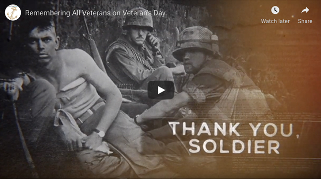 Remembering All Veterans on Veterans Day