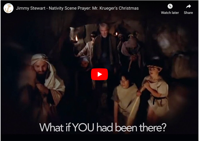 What If You Had Been There When Jesus Was Born? Jimmy Stewart in Mr. Krueger's Christmas
