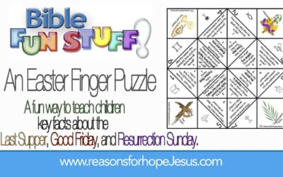 Easter Finger Puzzle to Teach Children About Jesus