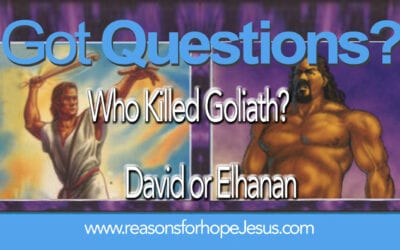 Did Elhanan Kill Goliath? (2 Sam 21:15) Or was it David? (1 Sam 17)