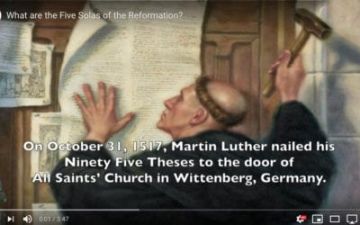 What are Martin Luther's Five Solas of the Reformation?