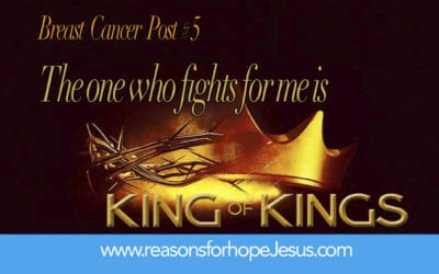 The one who fights for me is King of kings! Breast Cancer Post #5