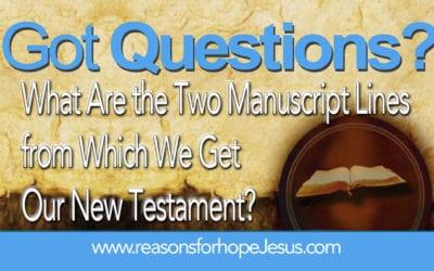 Manuscript Lines in the New Testament