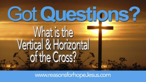 the vertical and horizontal of the cross
