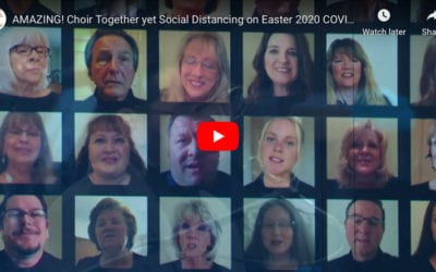AMAZING! Choir Together yet Social Distancing on Easter 2020 during COVID 19