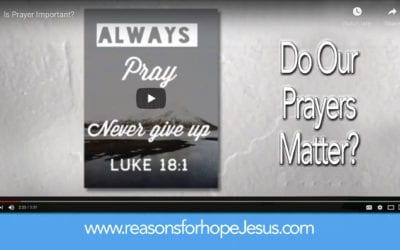 Do Our Prayers Matter?