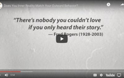 Does You Inner Reality Match Your Outward Behavior?