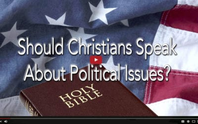 Should Christians Speak About Political Issues?