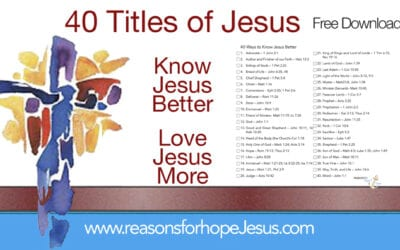 Forty Titles of Jesus to Know Him Better and Love Him More